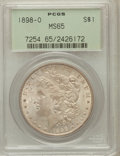 Morgan Dollars: , 1898-O $1 MS65 PCGS. PCGS Population (11112/2019). NGC Census:(12171/2036). Mintage: 4,440,000. Numismedia Wsl. Price for ...