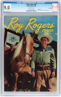Golden Age (1938-1955):Western, Four Color #86 Roy Rogers Comics - File Copy (Dell, 1945) CGC VF/NM9.0 Off-white pages....