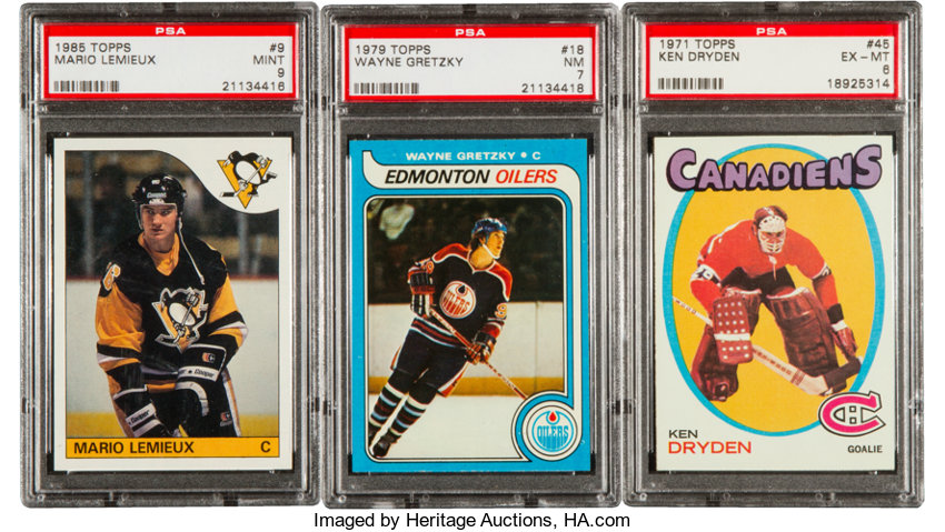 1971 1986 Topps Hockey Hofers Rookie Cards Psa Graded Trio