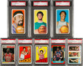 Basketball Cards:Lots, 1961 - 1987 Fleer and Topps Basketball PSA Graded Collection (25)with 4 Magic/Bird Rookies. ...