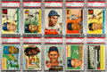 Baseball Cards:Lots, 1953 - 1956 Topps Baseball Collection (51) With 37 PSA GradedCards. ...