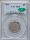 Liberty Nickels: , 1896 5C XF40 PCGS. CAC. PCGS Population (14/390). NGC Census:(1/284). Mintage: 8,842,920. Numismedia Wsl. Price for proble...