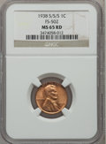 Lincoln Cents, 1938-S/S/S 1C MS65 Red NGC. FS-502. NGC Census: (251/2124). PCGSPopulation (765/2801). Mintage: 15,180,000. Numismedia Ws...