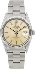 Timepieces:Wristwatch, Rolex Ref. 15200 Gent's Steel Oyster Perpetual Date, circa 1991....