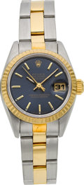 Timepieces:Wristwatch, Rolex Ref. 69173 Lady's Two Tone Oyster Perpetual Datejust, circa1991. ...