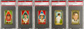 Baseball Cards:Lots, 1911 T205 Gold Border Baseball Collection (48) with Ty Cobb. ...