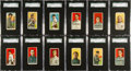 Baseball Cards:Sets, 1909-11 T206 White Borders Partial Set Plus a Few Extras (180) WithHoFers and Scarce Brands. ...