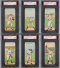 Baseball Cards:Sets, 1911 T201 Mecca Double Folders Complete Set (50). ...