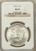 Morgan Dollars: , 1898-O $1 MS66 NGC. NGC Census: (1862/174). PCGS Population(1860/159). Mintage: 4,440,000. Numismedia Wsl. Price for probl...