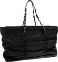 Luxury Accessories:Bags, Chanel Black Lambskin Leather Quilted Tote Bag with SilverHardware. ...