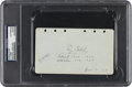 Autographs:Others, 1929 Ty Cobb Signed & Notated Album Page....