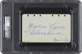 Autographs:Others, 1929 Napoleon Lajoie Signed & Notated Album Page....