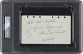 Autographs:Others, 1929 Honus Wagner Signed & Notated Album Page....