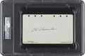 Autographs:Others, 1929 Grover Cleveland Alexander Signed Album Page....
