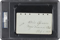 Autographs:Others, 1929 Tris Speaker Signed & Notated Album Page....