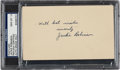Autographs:Post Cards, 1947 Jackie Robinson Signed Government Postcard, PSA/DNA Gem Mint10--First Week in Majors!...