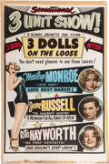 "Memorabilia:Poster, Road Show ""3 Dolls on the Loose"" Movie Poster (c. 1954).. ..."