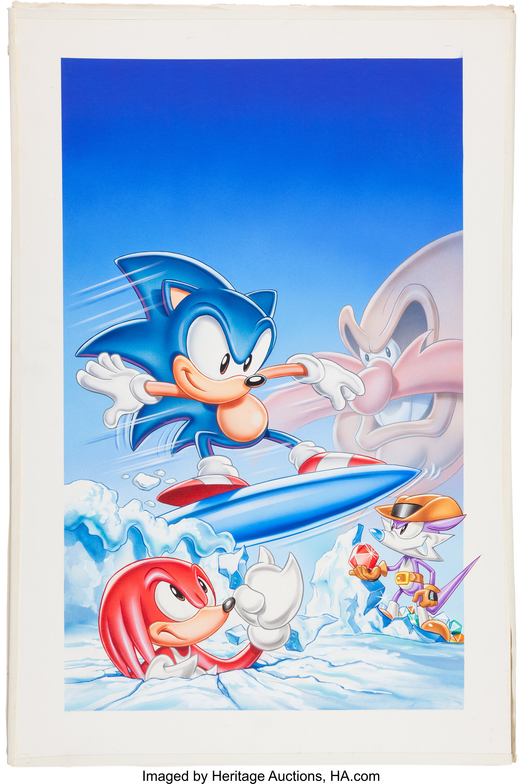 Sonic The Hedgehog Vhs Cover Illustration Original Art Lot 11684 Heritage Auctions