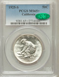 Commemorative Silver: , 1925-S 50C California MS65+ PCGS. CAC. PCGS Population (741/410).NGC Census: (912/566). Mintage: 86,394. Numismedia Wsl. P...