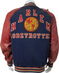 Basketball Collectibles:Uniforms, 1940's Harlem Globetrotters Travel Jacket. ...