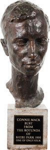 Baseball Collectibles:Others, 1950 Connie Mack Bronze Bust from the Rotunda of Shibe Park....