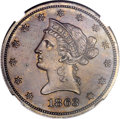 Patterns, 1863 $10 Ten Dollar, Judd-350, Pollock-422, Low R.6, PR63 BrownNGC....