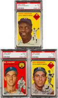 Baseball Cards:Lots, 1954 and 1955 Topps PSA-Graded Trio With Kaline Rookie! ...