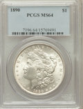 Morgan Dollars: , 1890 $1 MS64 PCGS. PCGS Population (3517/435). NGC Census:(4059/303). Mintage: 16,802,590. Numismedia Wsl. Price for probl...
