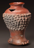 Pre-Columbian:Ceramics, A COLIMA VESSEL IN THE FORM OF A HUMAN LEG AND FOOT. c. 200 BC -200 AD...