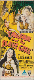 "Movie Posters:Adventure, Tarzan and the Slave Girl (RKO, 1950). Australian Daybill (13"" X30""). Adventure.. ..."