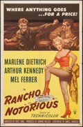 "Movie Posters:Western, Rancho Notorious (RKO, 1952). One Sheet (27"" X 41""). Western.. ..."