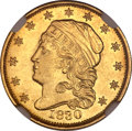 Early Quarter Eagles, 1830 $2 1/2 -- Improperly Cleaned -- NGC Details. Unc. BD-1,R.4....
