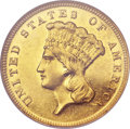 Proof Three Dollar Gold Pieces, 1887 $3 PR62 NGC....