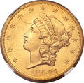 Liberty Double Eagles, 1854-S $20 -- Improperly Cleaned -- NGC Details. Unc.Breen-7172....