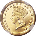 Gold Dollars, 1871 G$1 MS64 Prooflike NGC....