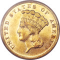 Three Dollar Gold Pieces, 1882 $3 AU55 PCGS....