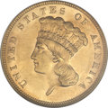Three Dollar Gold Pieces, 1887 $3 MS60 NGC....