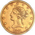 Liberty Eagles, 1841-O $10 -- Improperly Cleaned -- NGC Details. AU. Variety 1....