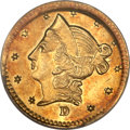 California Fractional Gold, 1853 50C Liberty Round 50 Cents, BG-422, High R.6, MS63 PCGS....