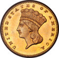 Gold Dollars, 1868 G$1 MS64 PCGS. CAC....