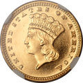 Gold Dollars, 1887 G$1 MS67 Deep Mirror Prooflike NGC....