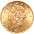 Liberty Double Eagles, 1905-S $20 MS64 PCGS....