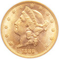 Liberty Double Eagles, 1888-S $20 MS63 PCGS....