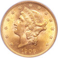 Liberty Double Eagles, 1906-D $20 MS63 PCGS....