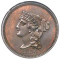 Patterns, 1854 P1C One Cent, Judd-161 Original, Pollock-187, R.4, PR64 BrownNGC....