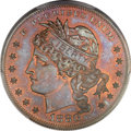 Patterns, 1880 $1 Goloid Metric Dollar, Judd-1652, Pollock-1852, High R.6, PR66 Red and Brown PCGS. CAC....