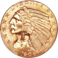 Indian Half Eagles, 1909 $5 MS64+ PCGS....