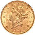 Liberty Double Eagles, 1882-S $20 MS62 NGC. Breen-7283....