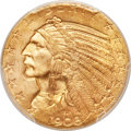 Indian Half Eagles, 1908 $5 MS64 PCGS. CAC....