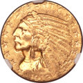 Indian Half Eagles, 1912-S $5 MS62 NGC. CAC....